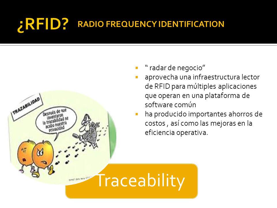 RADIO FREQUENCY IDENTIFICATION radar de negocio aprovecha una infraestructura lector de RFID para múltiples aplicaciones que operan en una plataforma de software común ha producido importantes ahorros de costos, así como las mejoras en la eficiencia operativa.