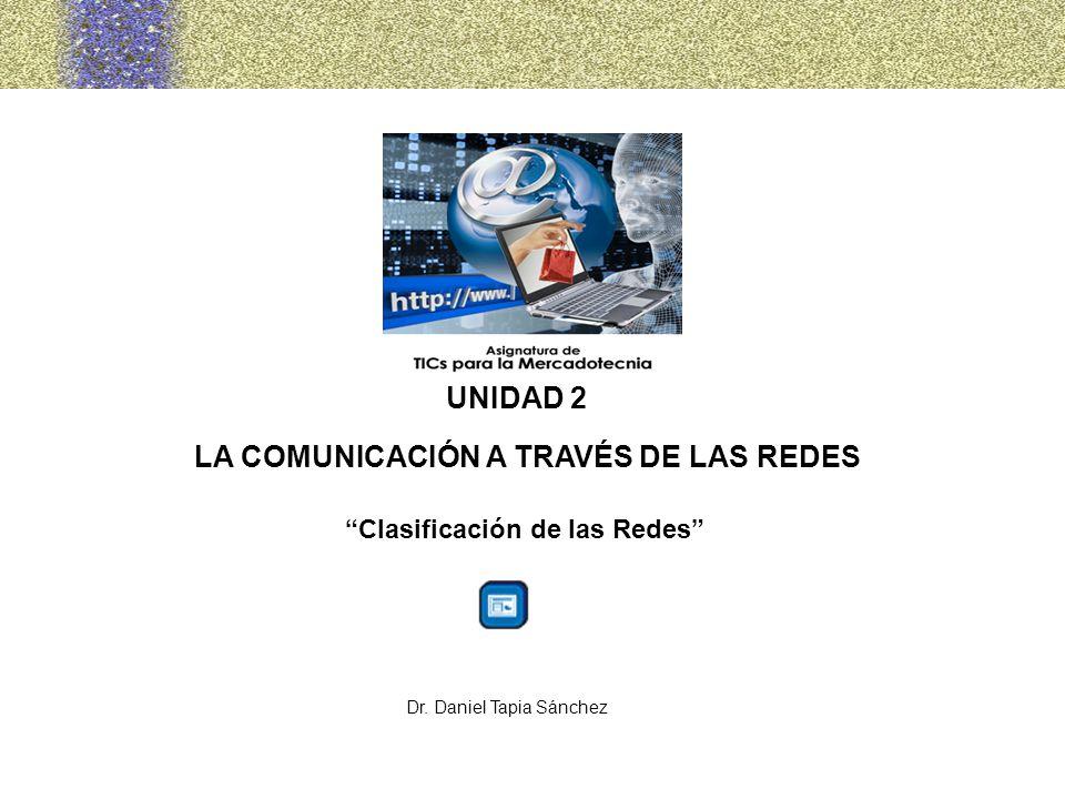 UNIDAD 2 LA COMUNICACIÓN A TRAVÉS DE LAS REDES Clasificación de las Redes Dr. Daniel Tapia Sánchez
