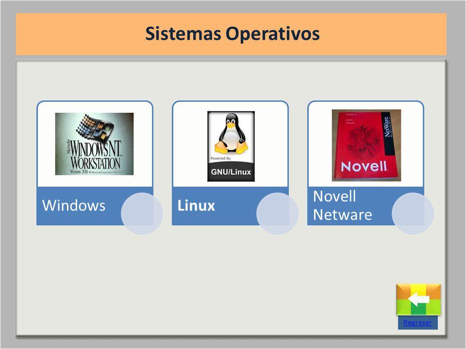 WindowsLinux Novell Netware Sistemas Operativos Regresar