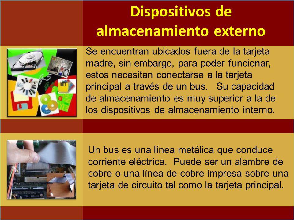 Se encuentran ubicados fuera de la tarjeta madre, sin embargo, para poder funcionar, estos necesitan conectarse a la tarjeta principal a través de un bus.