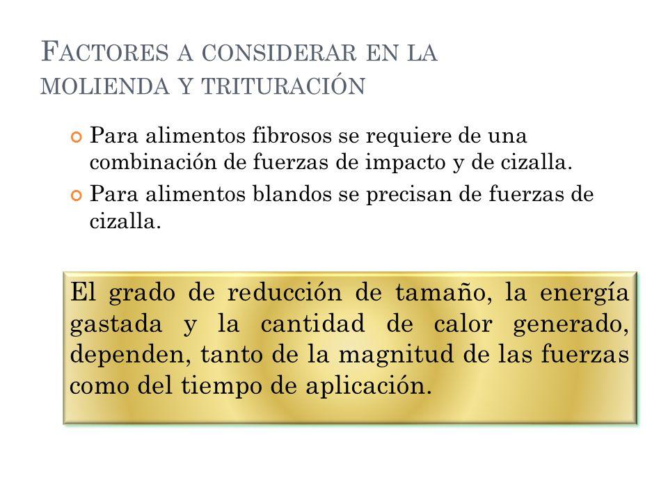 TIPOS DE MOLINOS TEMA: BALANCES DE ENERGIA APLICADOS A PROCESOS DE TRITURACION Y MOLIENDA: Ley de Rittinger, Ley de kick y Ley de Bond.
