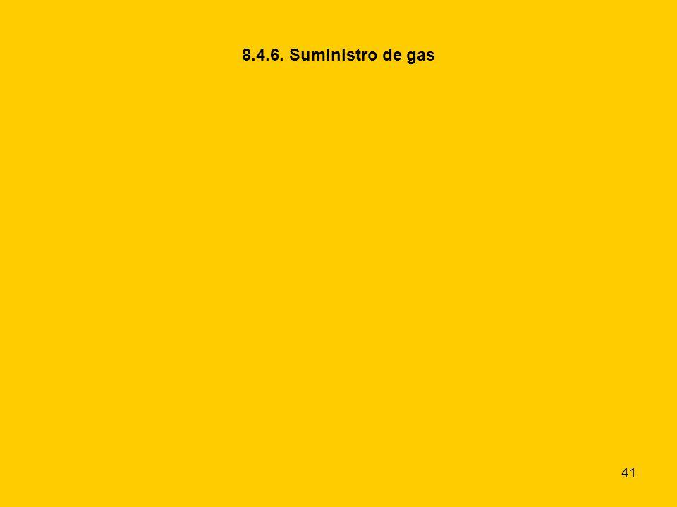 41 8.4.6. Suministro de gas