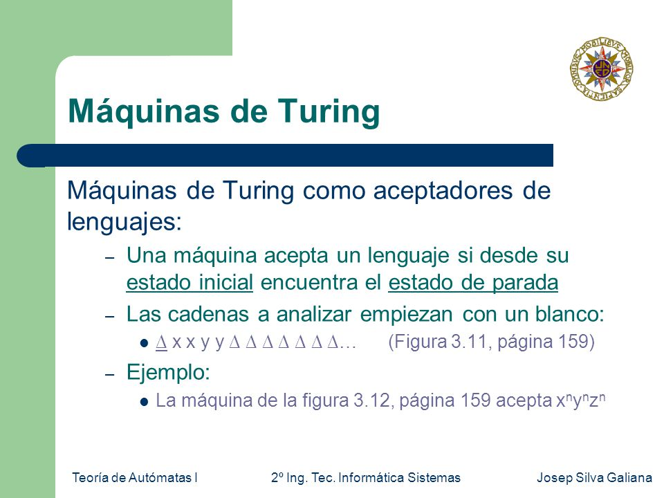 Teoría de Autómatas I2º Ing.Tec.
