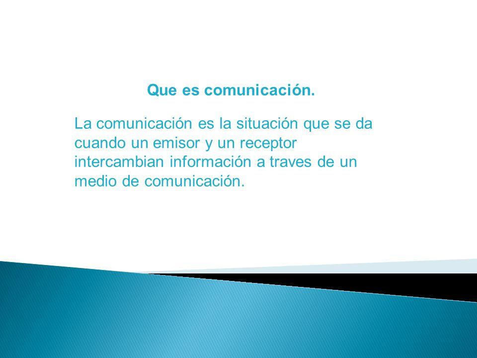 Tipos de comunicación Oral: Cuando dos personas hablan en un lugar Escrito: Cuándo se comunican por cartas dos personas Gestual: Comunicación por medio de gestos, por ejemplo cundo uno se ríe con otra persona es una comunicación de tipo gesta.