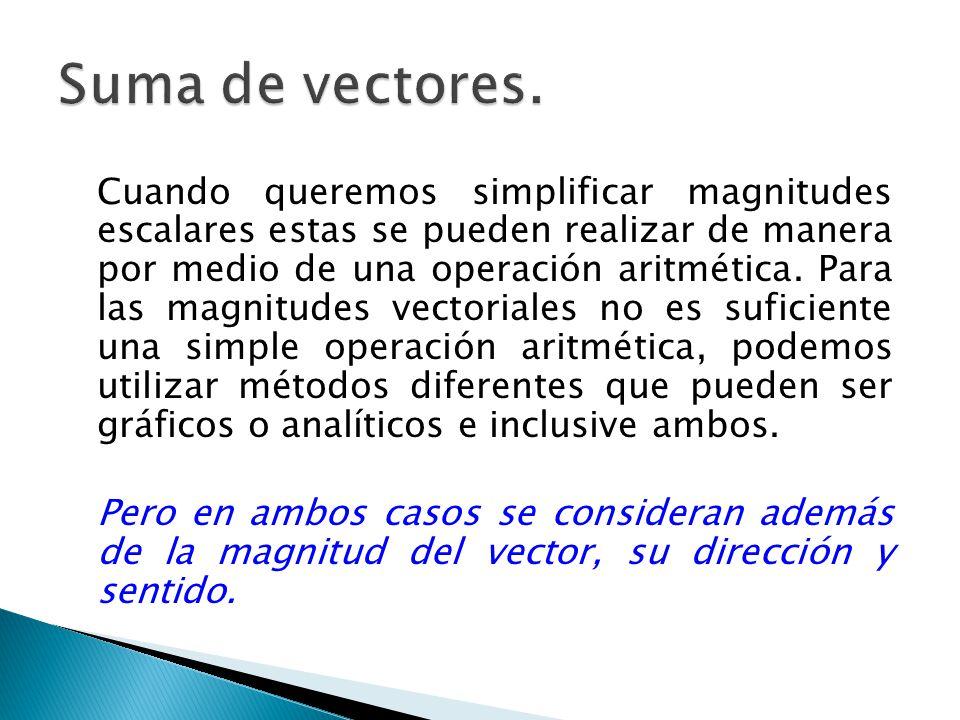Como se comento para encontrar un valor equivalente para las magnitudes vectoriales tenemos dos tipos de métodos.