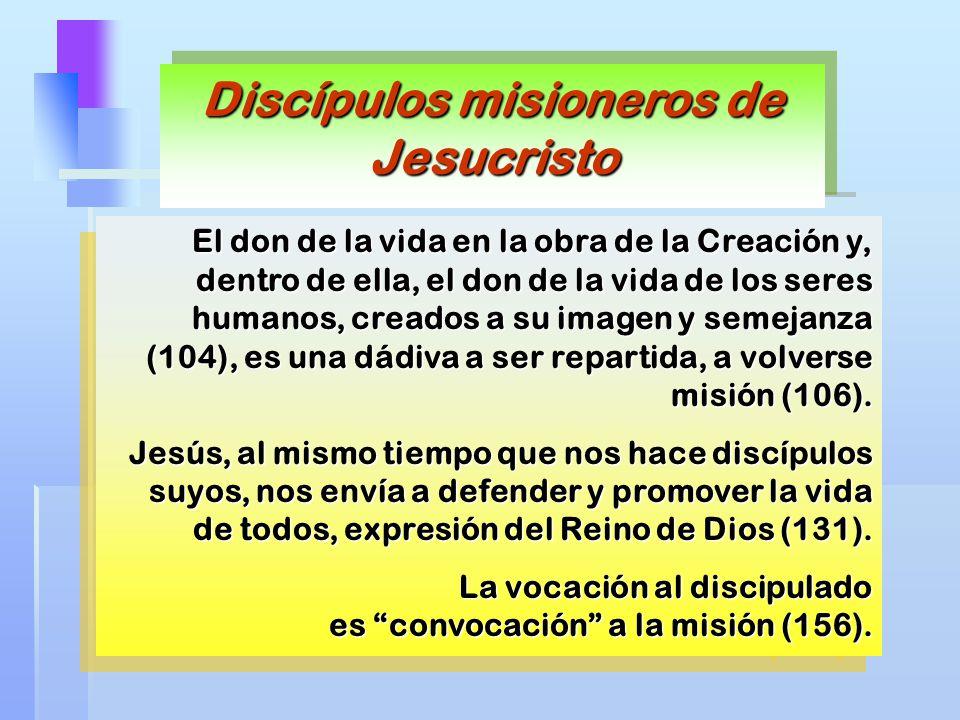 El don de la vida en la obra de la Creación y, dentro de ella, el don de la vida de los seres humanos, creados a su imagen y semejanza (104), es una d