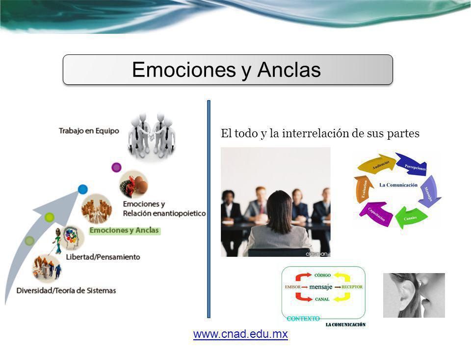 www.cnad.edu.mx El todo y la interrelación de sus partes Emociones y Anclas