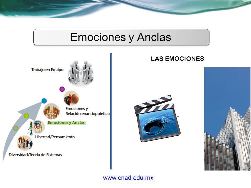 Emociones y Anclas LAS EMOCIONES www.cnad.edu.mx