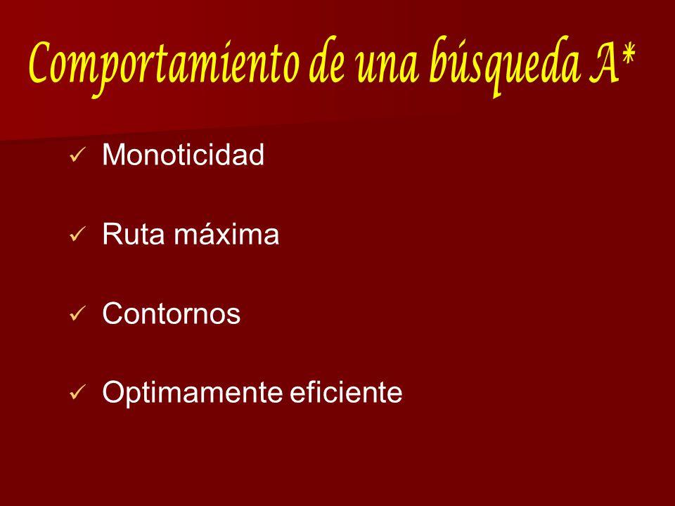 Monoticidad Ruta máxima Contornos Optimamente eficiente