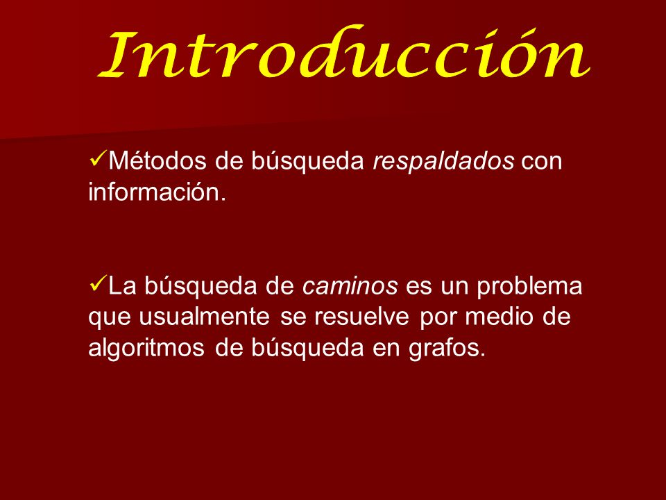 En esta sección se exploraran dos algoritmos diseñados para conservar la memoria: BUSQUEDA A* por PROFUNDIZACION ITERATIVA (A*PI) BUSQUEDA A* ACOTA por MEMORIA SIMPLIFICADA