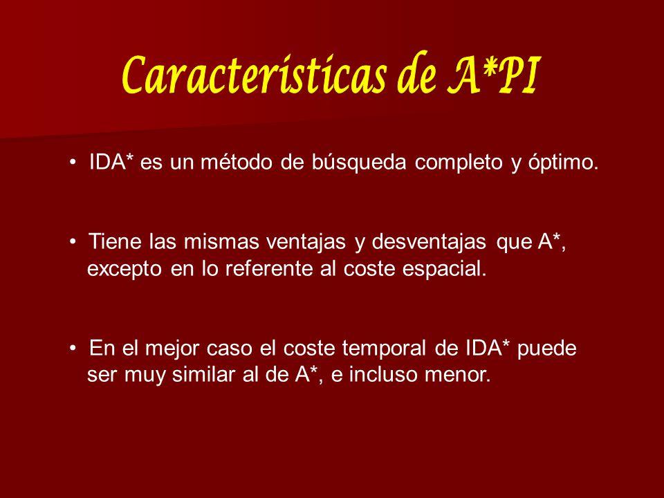 IDA* es un método de búsqueda completo y óptimo. Tiene las mismas ventajas y desventajas que A*, excepto en lo referente al coste espacial. En el mejo