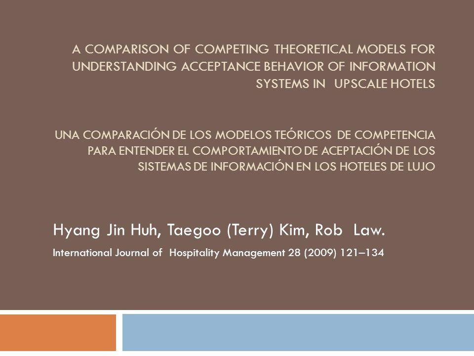 Objetivo El objetivo es saber que modelo es mejor para predecir y explicar la intención de conducta/uso de los empleados a utilizar el Sistema de Información de Hotel (HIS).