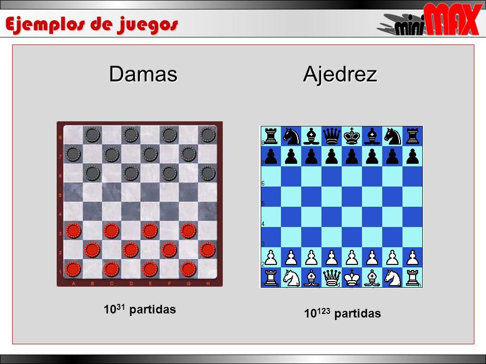 Ejemplos de juegos DamasAjedrez 10 31 partidas 10 123 partidas