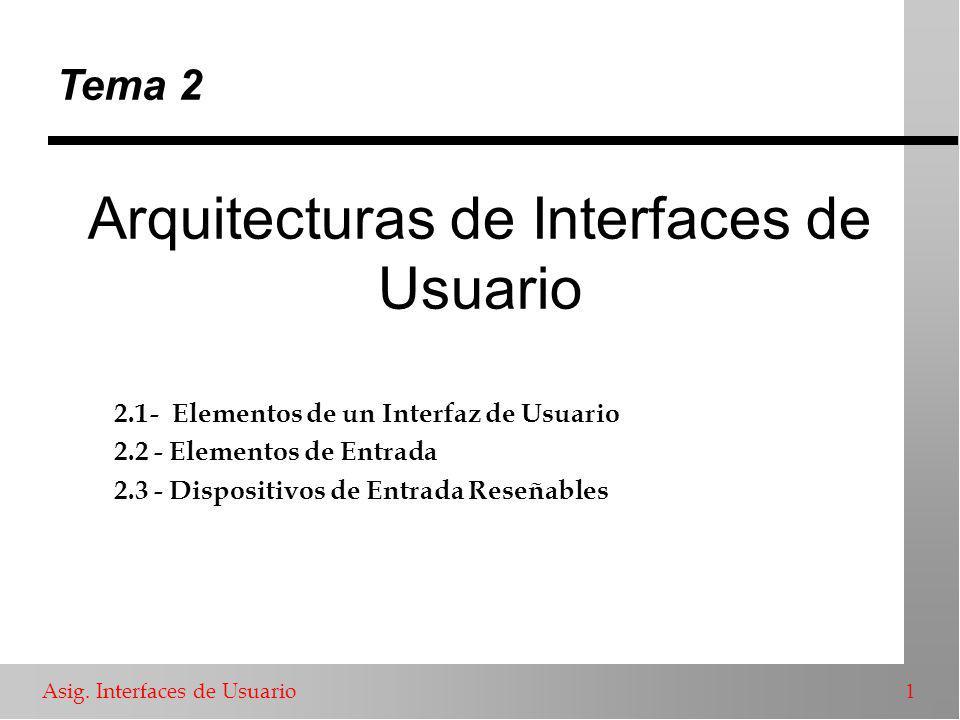 Asig.Interfaces de Usuario 2 Elementos de un I.U.