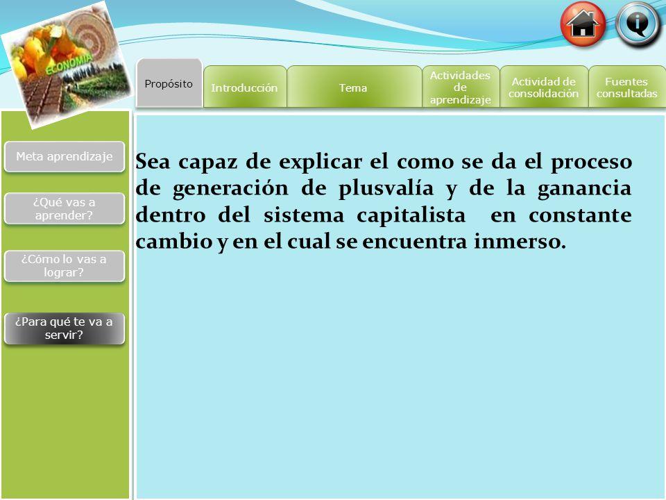 Actividad de consolidación Actividad de consolidación Actividades de aprendizaje Actividades de aprendizaje Tema Introducción Fuentes consultadas Fuen
