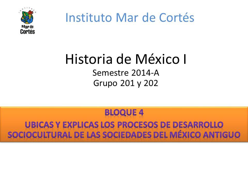 Instituto Mar de Cortés Historia de México I Semestre 2014-A Grupo 201 y 202