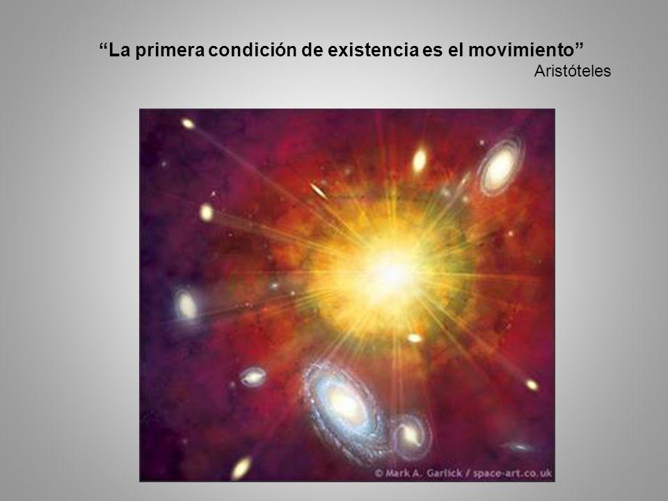 La primera condición de existencia es el movimiento Aristóteles.