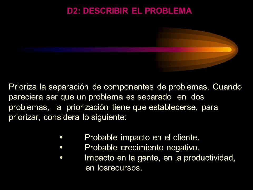 DEFINICION OPERACIONAL Cual es el defecto y el objeto en que se presenta? Sabemos porque ocurre ese defecto en ese objeto? Porque?