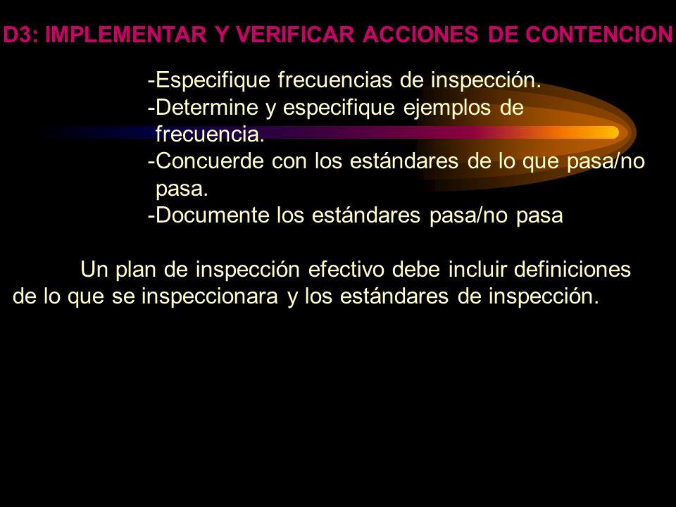 D3: IMPLEMENTAR Y VERIFICAR ACCIONES DE CONTENCION PROCESO: LOS PROCEDIMIENTOS SON NECESARIOS ATENDIENDO A LA SEGURIDAD DE QUE LAS MEDIDAS LLEVADAS A
