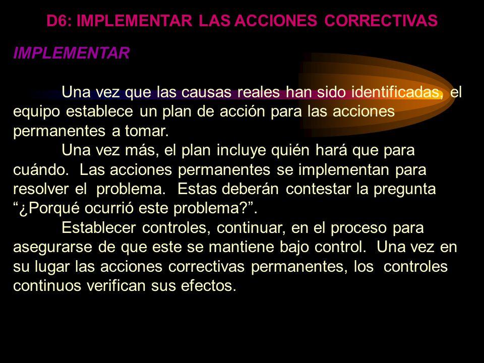 DISCIPLINA: Identificar e implementar acciones correctivas permanentes. HERRAMIENTAS: Listas de control Gráficas de control Diseño de experimentos Llu