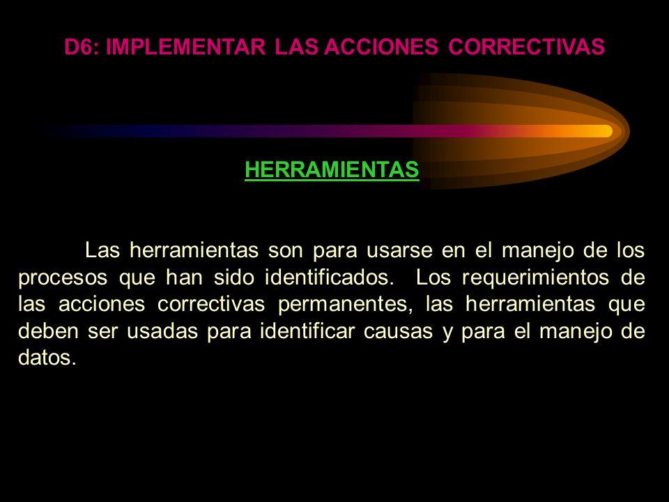 ELIMINAR ACCIONES CORRECTIVAS PROVISIONALES No eliminar las acciones correctivas provisionales hasta después de que las acciones correctivas permanent