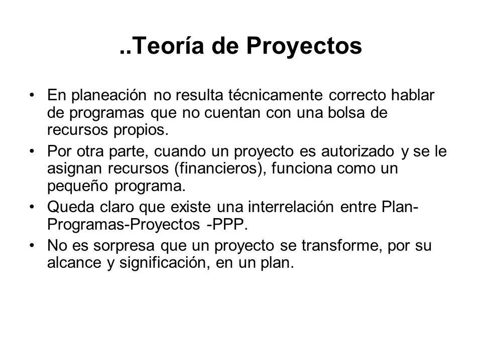 .. Teoría de Proyectos Un plan suele definir los fines, objetivos, prioridades y metas de un país, sector, o de una institución o servicio, así como l