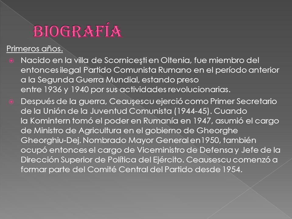 Primeros años. Nacido en la villa de Scorniceşti en Oltenia, fue miembro del entonces ilegal Partido Comunista Rumano en el período anterior a la Segu