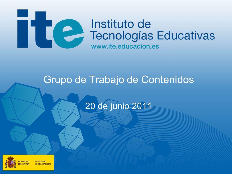 Grupo de Trabajo de Contenidos 20 de junio 2011