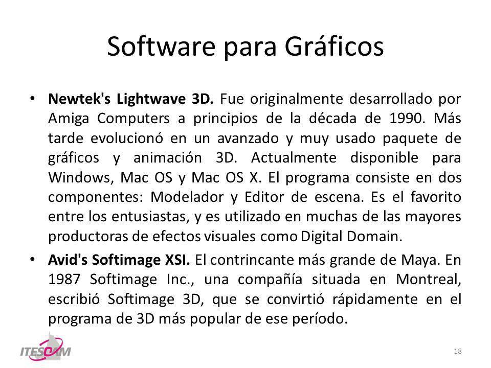 Software para Gráficos Newtek s Lightwave 3D.
