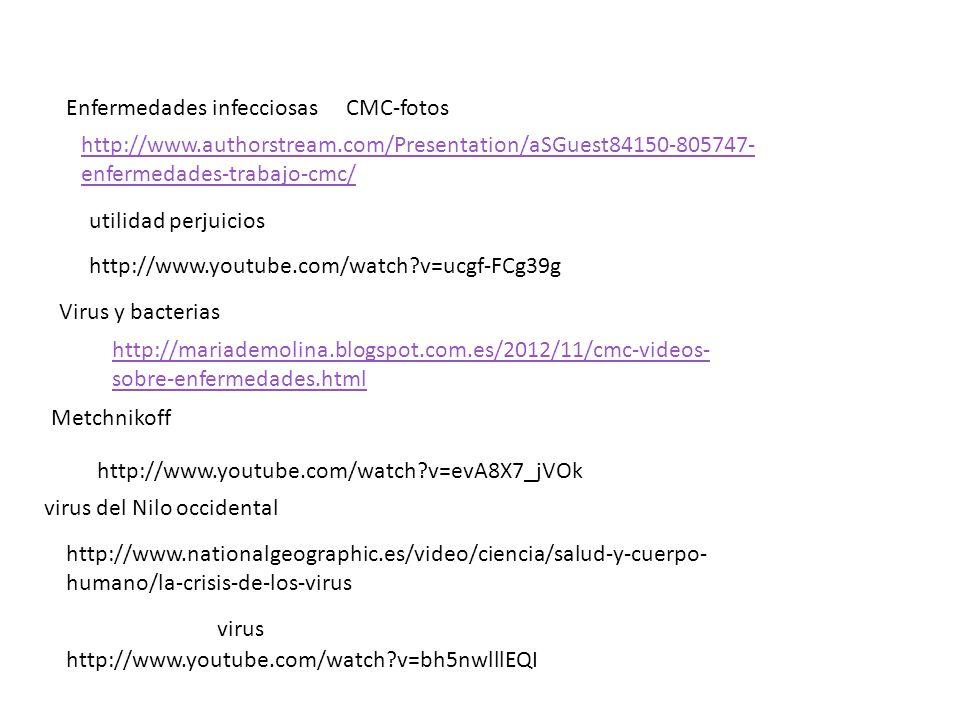 http://www.authorstream.com/Presentation/aSGuest84150-805747- enfermedades-trabajo-cmc/ http://mariademolina.blogspot.com.es/2012/11/cmc-videos- sobre