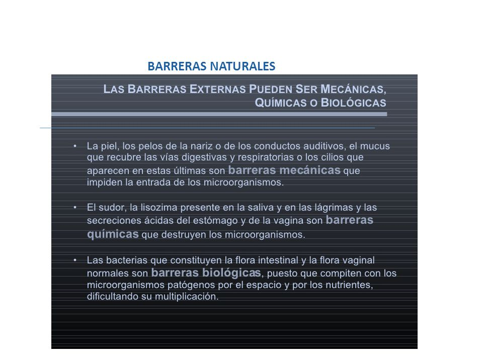 BARRERAS NATURALES