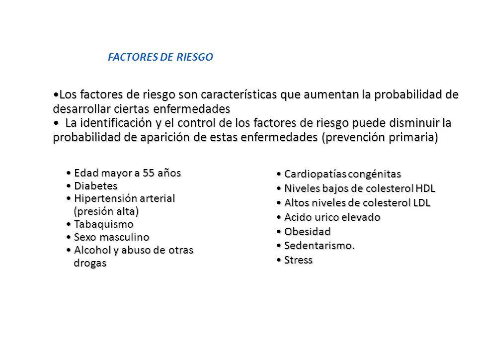 FACTORES DE RIESGO Los factores de riesgo son características que aumentan la probabilidad de desarrollar ciertas enfermedadesLos factores de riesgo s