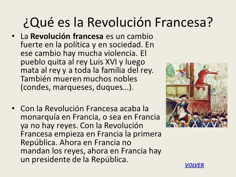 ¿Qué es la Revolución Francesa.