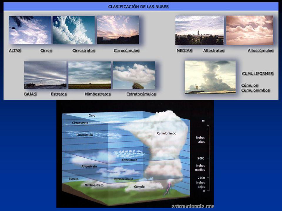 NUBES ALTAS La nubes altas (5000-13000 m).También se pueden denominar nubes noctilucentes.