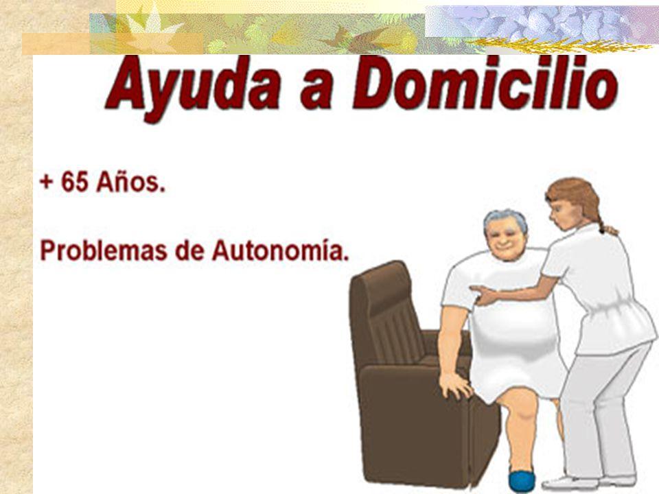 P.Ayuda Domiciliaria 14 ATENCIÓN A PERSONAS MAYORES Prestaciones Ayudas técnicas para mantener al mayor en su medio habitual: SAD; T.A; Centros de Atención Diurna.