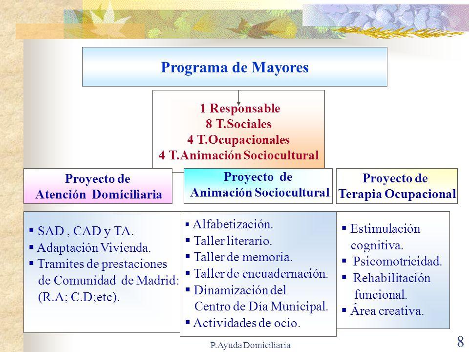 P.Ayuda Domiciliaria 7 Programas y Proyectos de Servicios Sociales de Móstoles Información, orientación y valoración.
