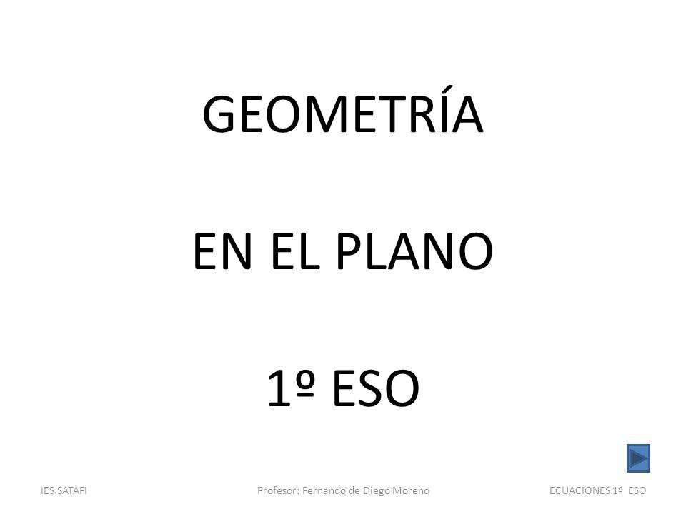 IES SATAFIProfesor: Fernando de Diego MorenoGEOMETRÍA 1º ESO DEFINICIÓN: Dos rectas son secantes si se cortan en un punto, es decir, si tienen un punto en común.