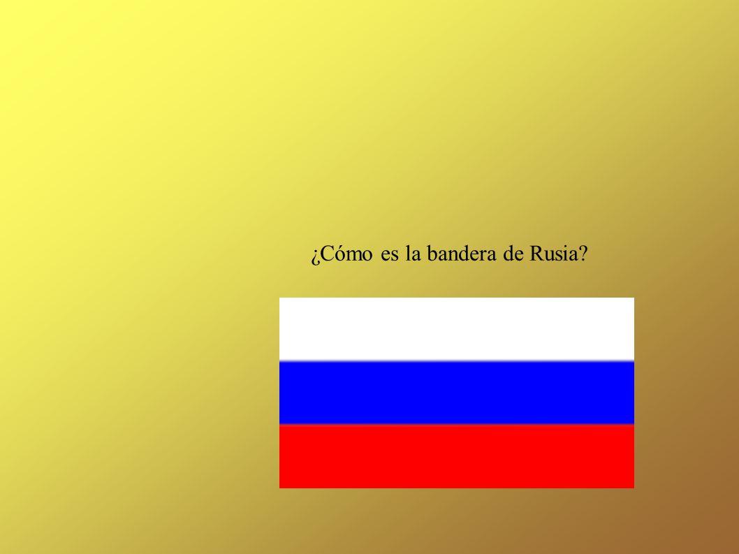 ¿Cómo es la bandera de Rusia?