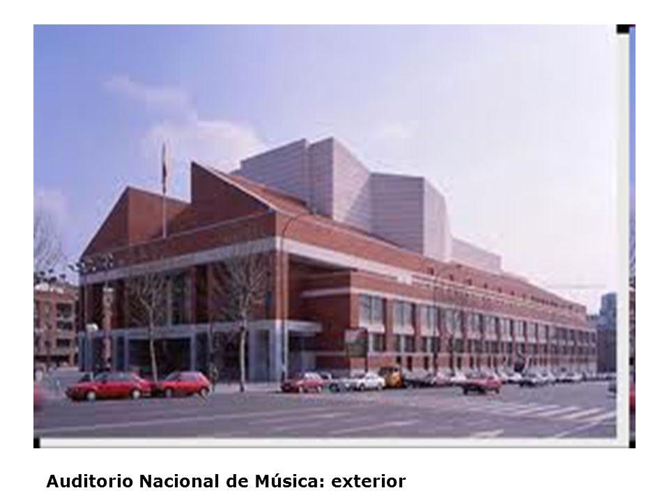 Auditorio Nacional de Música: exterior