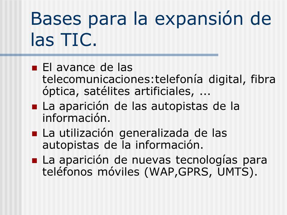 Bases para la expansión de las TIC.