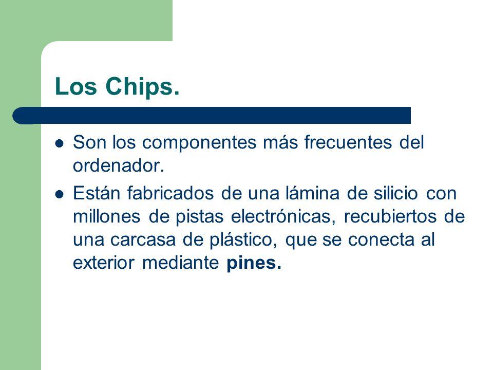 El chipset El chipset es un conjunto de chips de la placa base que: – gestiona los periféricos a través de los puertos de comunicación (puente sur).