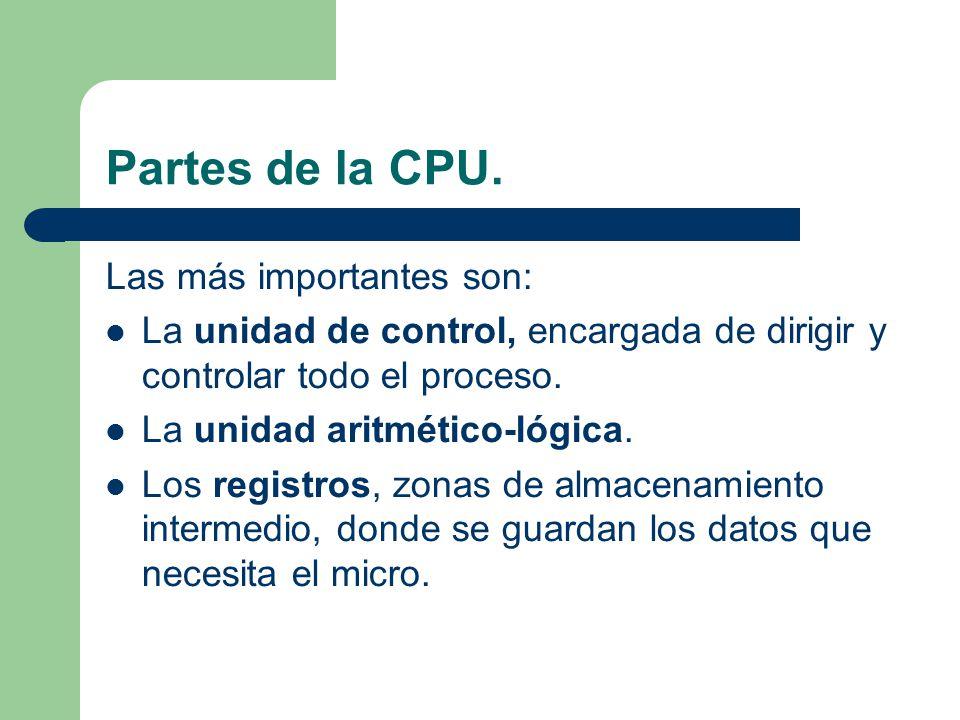 Partes de la CPU.