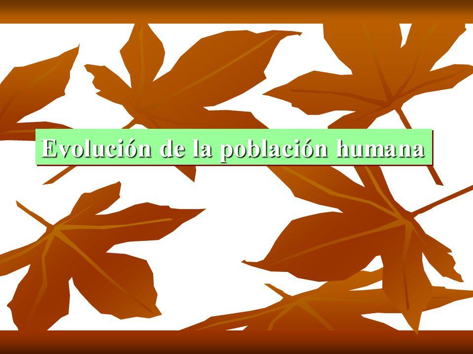 Evolución de la población humana Evolución de la población humana