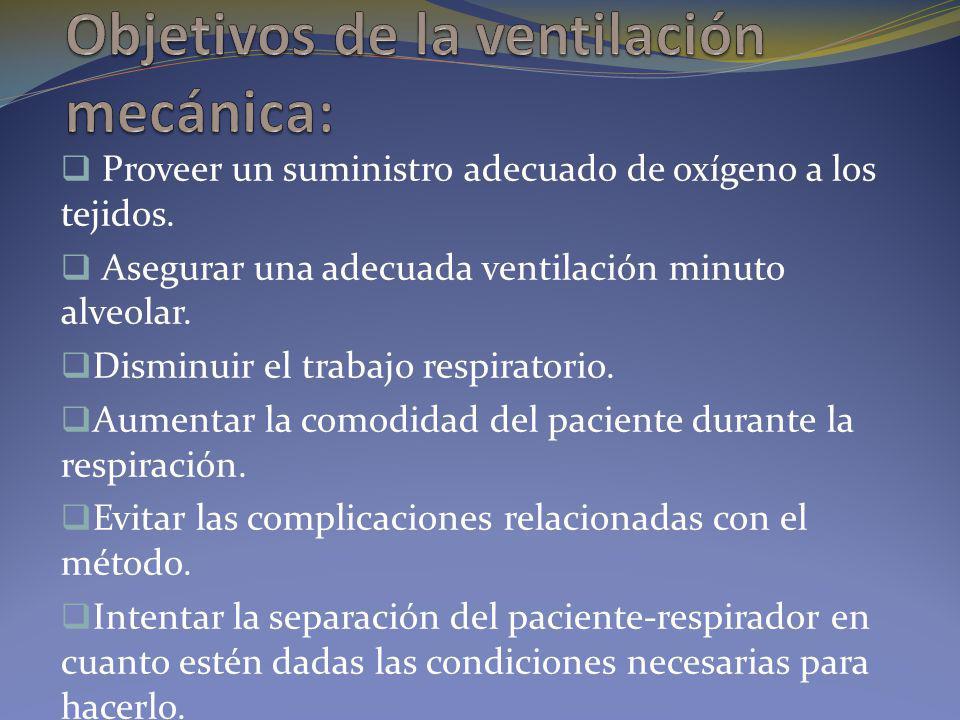 Modos ventilatorios: ESPONTÁNEOS E l paciente genera su propia FR y el respirador otorga algunas variables específicas que apoyan esos movimientos respiratorios.