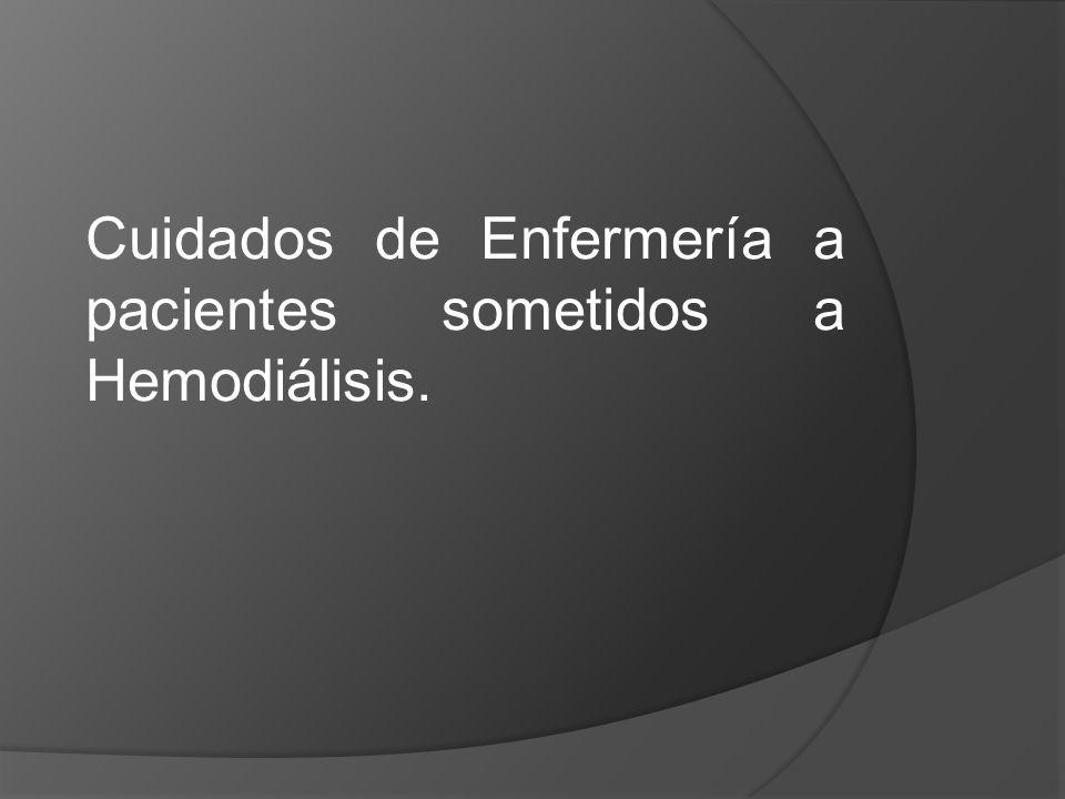 Cuidados de Enfermería a pacientes sometidos a Hemodiálisis.