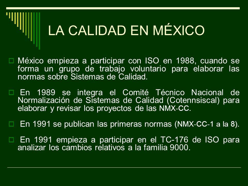 CALIDAD EN LAS DÉCADA DE 1990S – 2000.