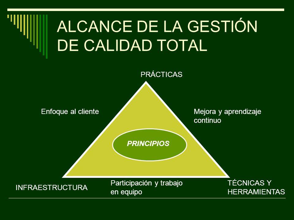 MODELO DE LA CALIDAD TOTAL SATISFACCIÓN DEL CLIENTE LIDERAZGO DESARROLLO DEL RECURSO HUMANO ANÁLISIS DE LA INFORMACIÓN PLANEACIÓN IMPACTO SOCIEDAD Y AMBIENTE ADMINISTRA CIÓN Y MEJORA DE PROCESOS RESULTADOS DE CALIDAD PRODUCTIVI DAD