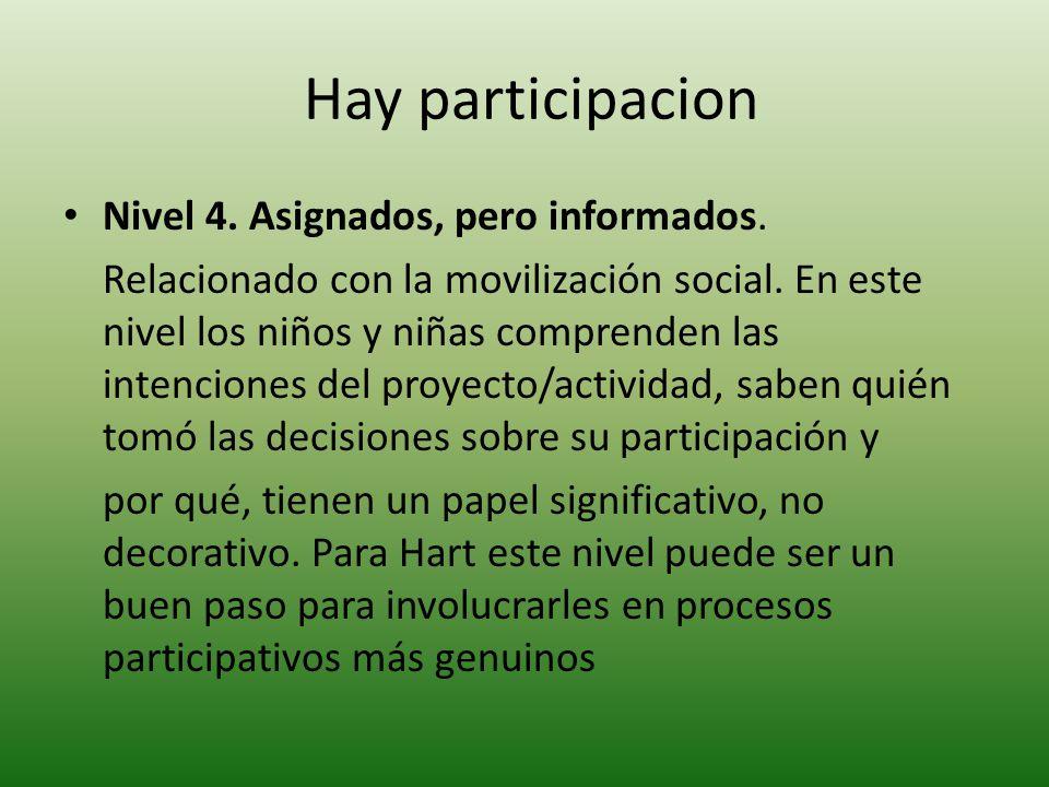 Nivel 5.Consultados e informados.