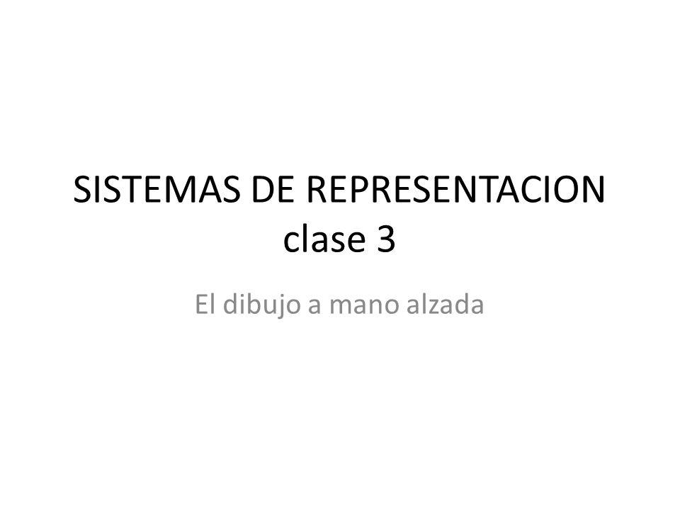 SISTEMAS DE REPRESENTACION clase 3 El dibujo a mano alzada