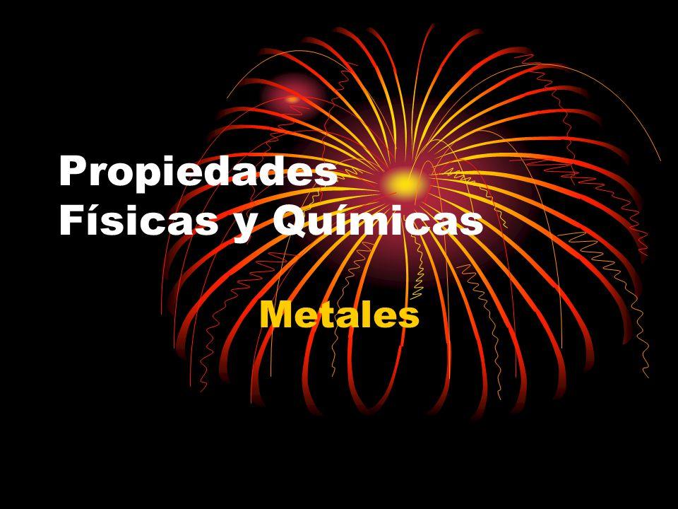 Propiedades Físicas y Químicas Metales